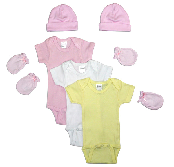 Bambini Newborn Baby Girls 7 Pc Layette Baby Shower Gift Set 1