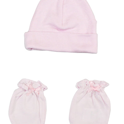 Bambini Girls' Cap and Mittens 2 Piece Set