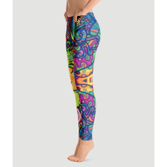 Trippy Weed Prestige Leggings-Yoga Pants - Bak2Bay6Store