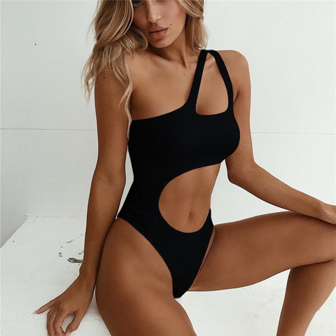 Striking One Shoulder Bathing Suit