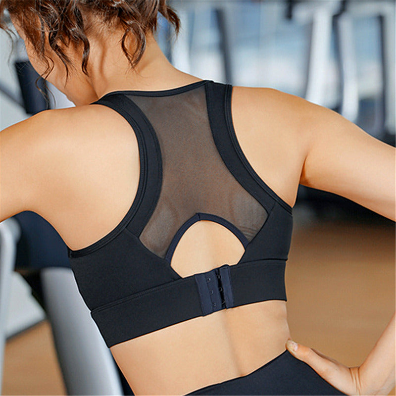 High Support Rear Buckle Push Up Sports Bra