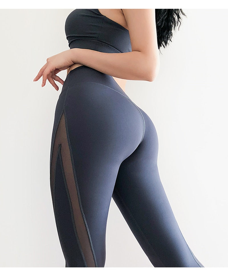 Super Stretchy Mesh Side Yoga Leggings