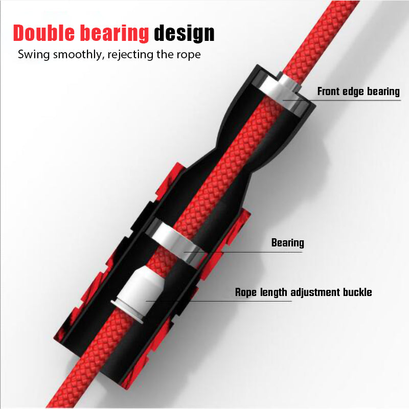 Proffesional Double Bearing Weighted Jump Rope (6mm)