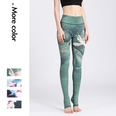 High Waist Floral Printed Yoga Leggings