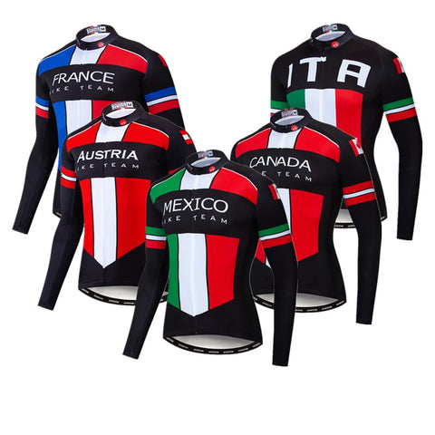Long Sleeve Cycling Jersey for Men