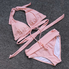 High Waist Push Up Bikini Set