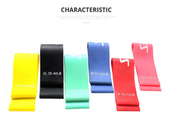 Set of 6 Pieces Rubber Resistance Loop Bands