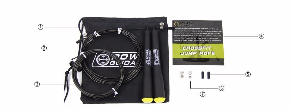 Speed Jump Adjustable Rope for HIIT WOD with Free Bag - Bak2Bay6Store