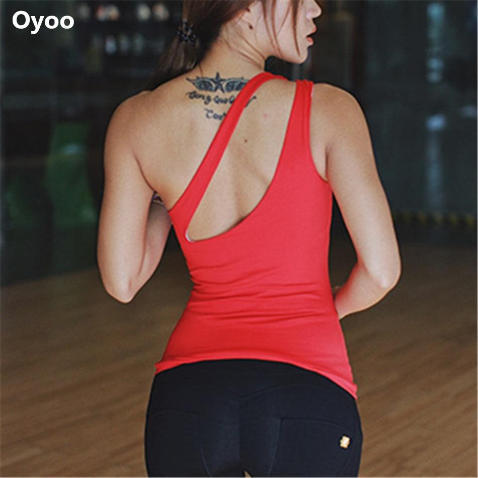 One-Shoulder Padded Fitness-Yoga Top - Bak2Bay6Store