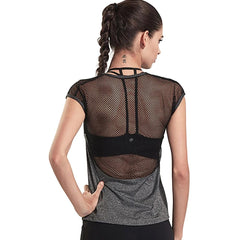 Sexy Women's Mesh Sports/Yoga Shirt