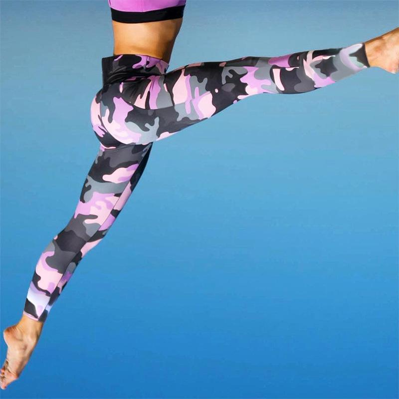 Camou Breathable Yoga Pants- Available in XL - Bak2Bay6Store
