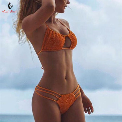 Ariel Sarah Women Pleated Bikinis - bak2bay6.com