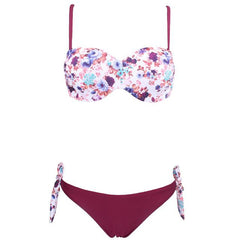Bandeau Rose Floral Bikini Set - Available in XL - Bak2Bay6Store