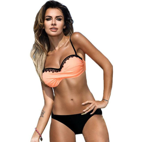 Elegant Bandage Twist Bikini Set- Available in PLUS Size - Bak2Bay6Store