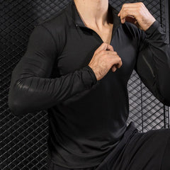 Moisture Wicking Sport Rash Guard with Zipper - Bak2Bay6Store