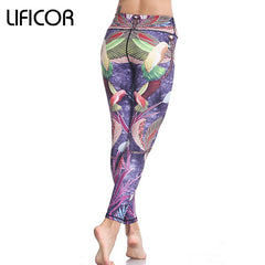 Anti-Wrinkle Printed Yoga Leggings - Available in XL - Bak2Bay6Store