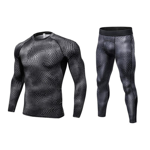 Shirt +Pant Men's Compression Set- Available n PLUS Size - Bak2Bay6Store