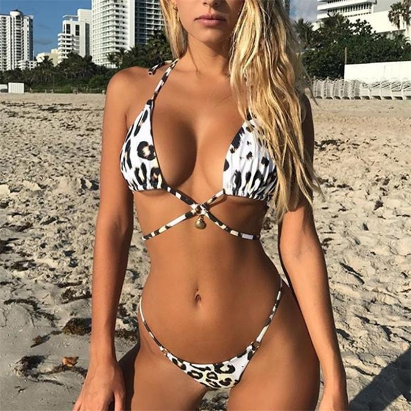 Leopard Bikini Set by Top Swimwear Designer Ariel Sarah - Bak2Bay6Store