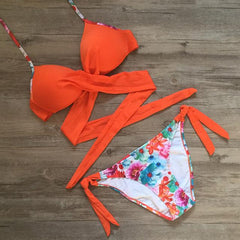 Ariel Sarah Cross Bandage Bikini Set - Top Seller! - Bak2Bay6Store
