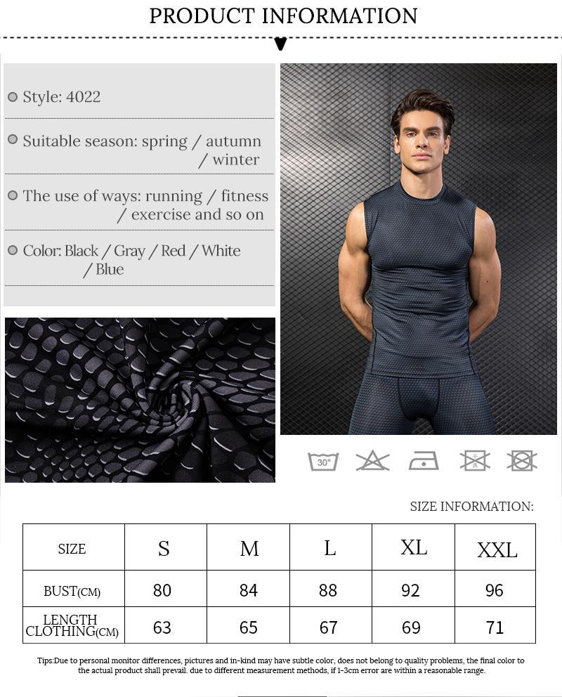 High Elastic Men's Compression Tights Tank Top-Available in PLUS SIZE