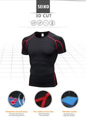 Moisture Wicking Fitness Shirt- Available in XXL - Bak2Bay6Store