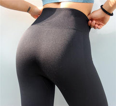 Premium Quality Seamless Tummy Control 3/4 Length Yoga Pants - Leggings - Bak2Bay6Store