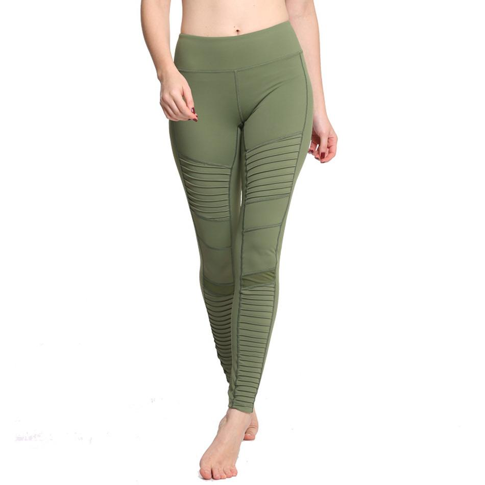 Premium Quality Flora Moto High Waisted Elastic Yoga Pants with Mesh Panels - Bak2Bay6Store