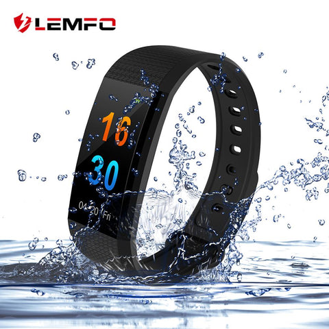 LEMFO Color Touch Screen Heart Rate Monitor Smart Watch Bracelet - Bak2Bay6Store