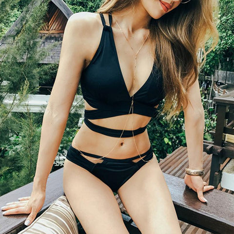 Sexy Black Brazilian Bikini Set - Bak2Bay6Store