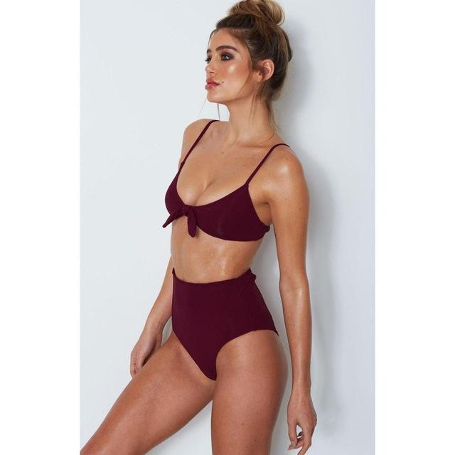 Bow Tie Sexy High Waist Bikini Set- Available in XL - Bak2Bay6Store