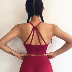 Seamless Wire-free Padded Fitness/Yoga Support Top - Bak2Bay6Store