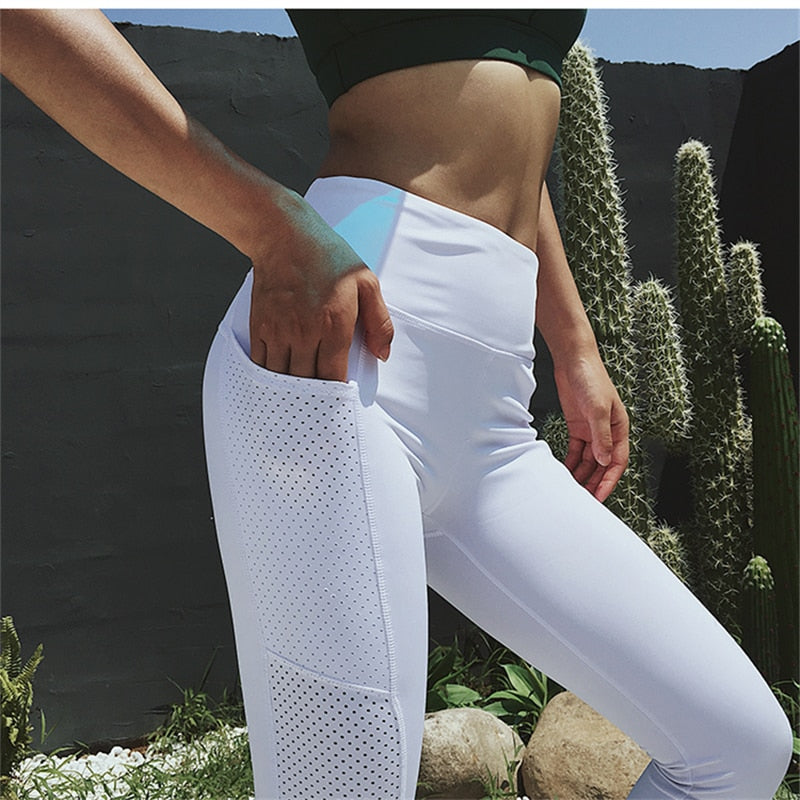 Tummy Control Mid Waist Out Pocket Yoga Pants- Available in XL