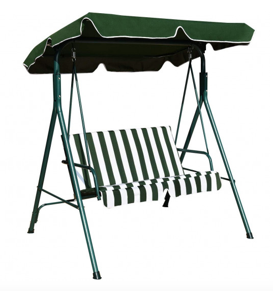 Steel Patio Swing With Canopy Plus Adjustable