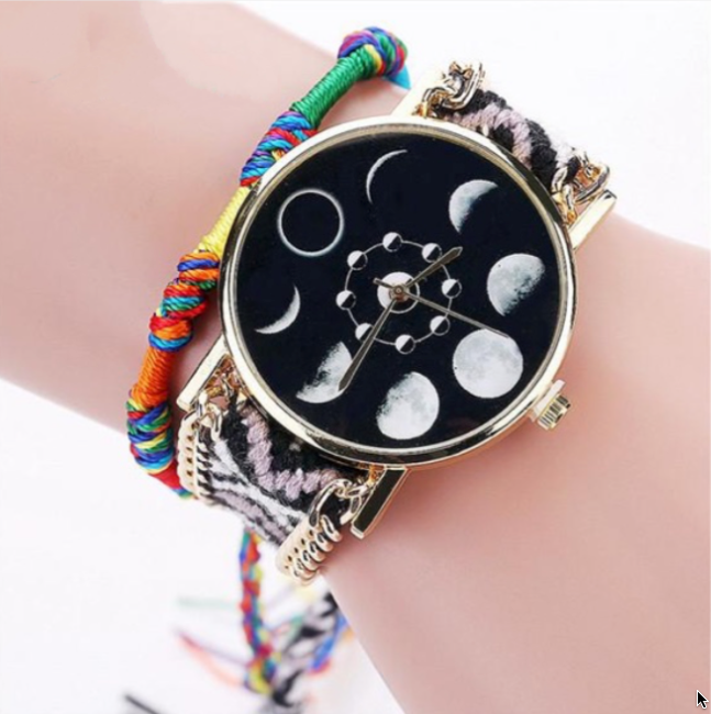Hand Braided Moon Watch