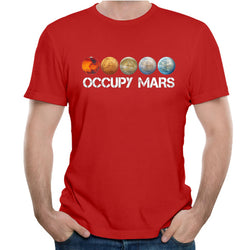 Space X T shirt Ouccpy Mars Tees