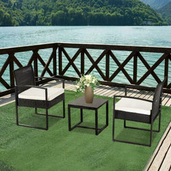 3PC Outdoor Patio Set Wicker Set