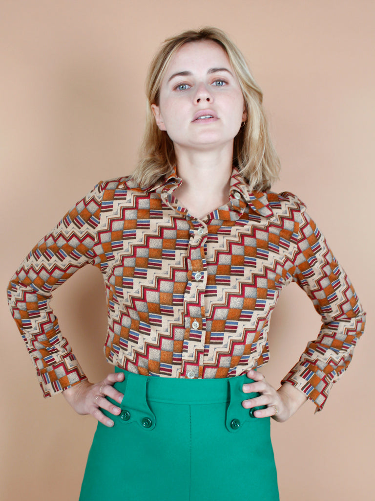 70s GEOMETRICAL PRINTED SHIRT