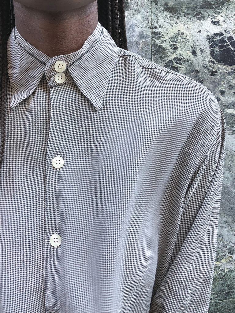 90s ARMANI MICRO CHECKED SHIRT