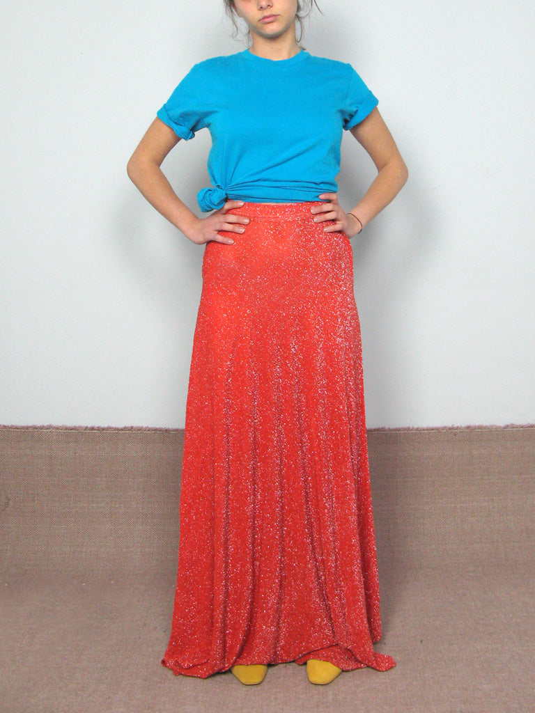 70s LUREX MAXI SKIRT