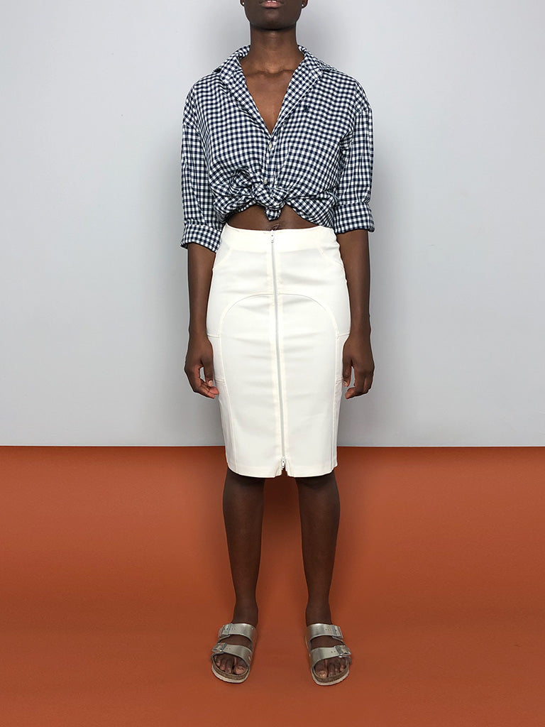 00s WHITE PENCIL SKIRT