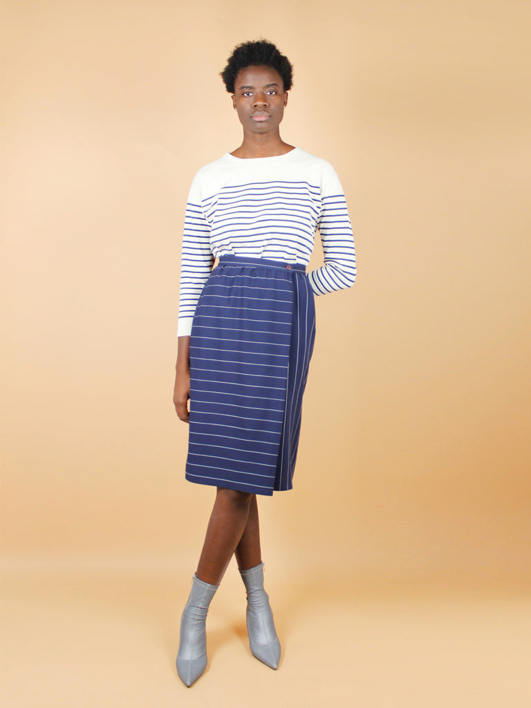 90s PIN STRIPED SKIRT