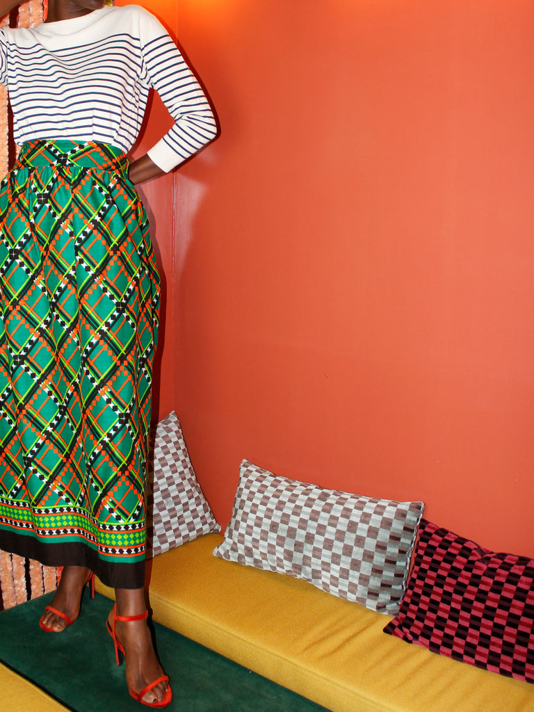 70s COLORFUL MAXI SKIRT
