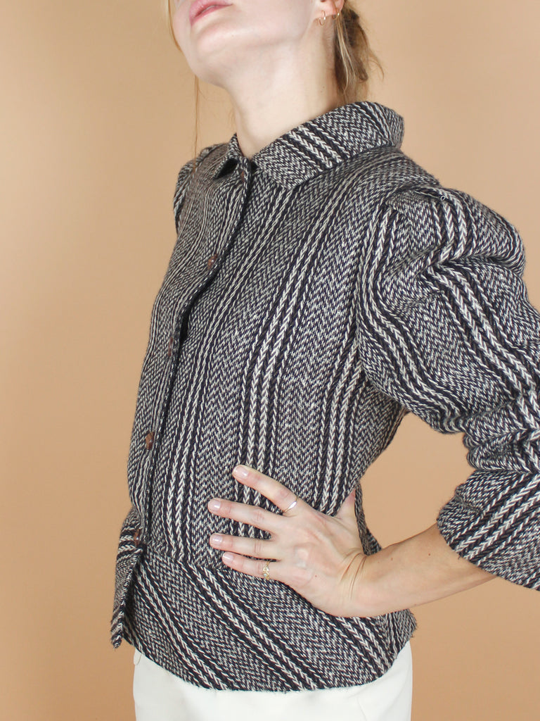 80s HERRINGBONE SHORT JACKET