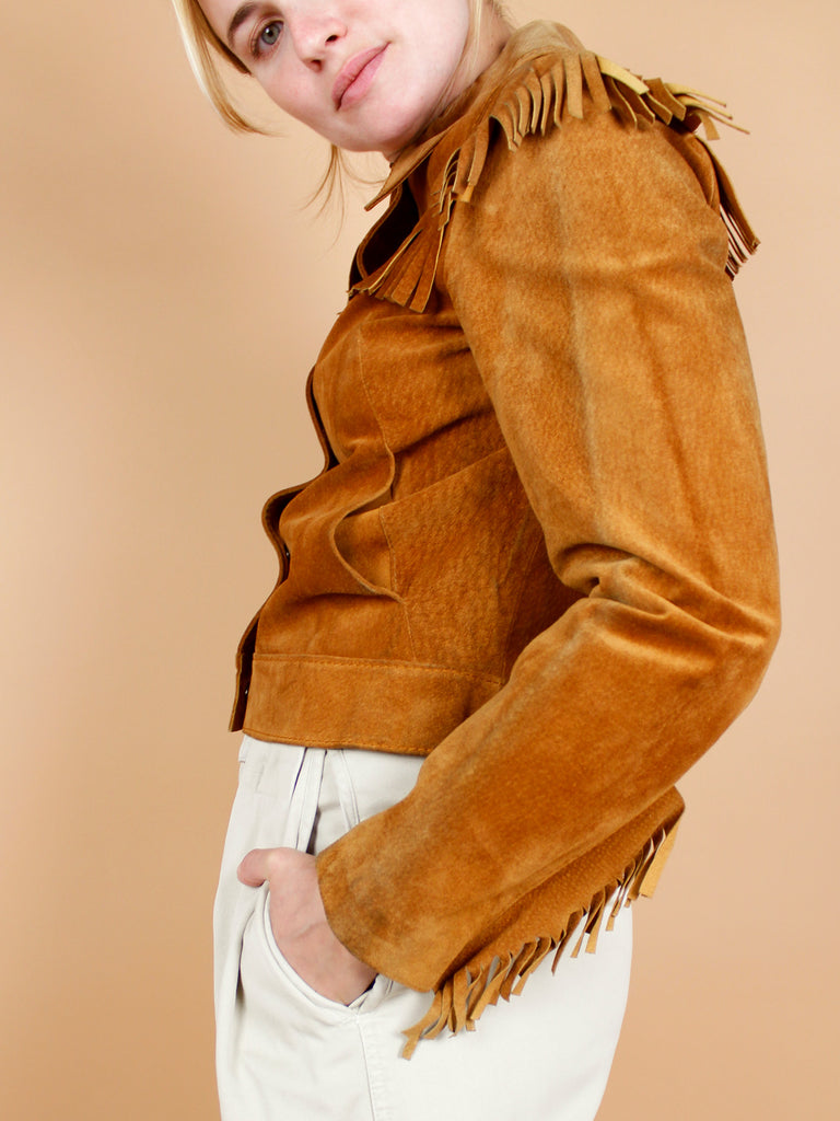 70s FRINGES CROPPED JACKET