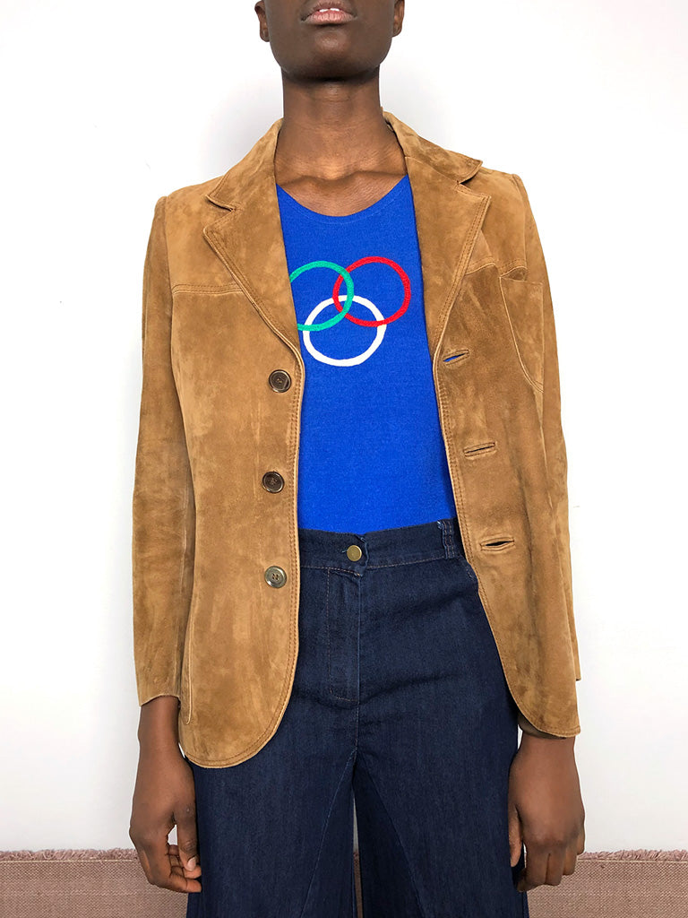 90s SUEDE LONG JACKET