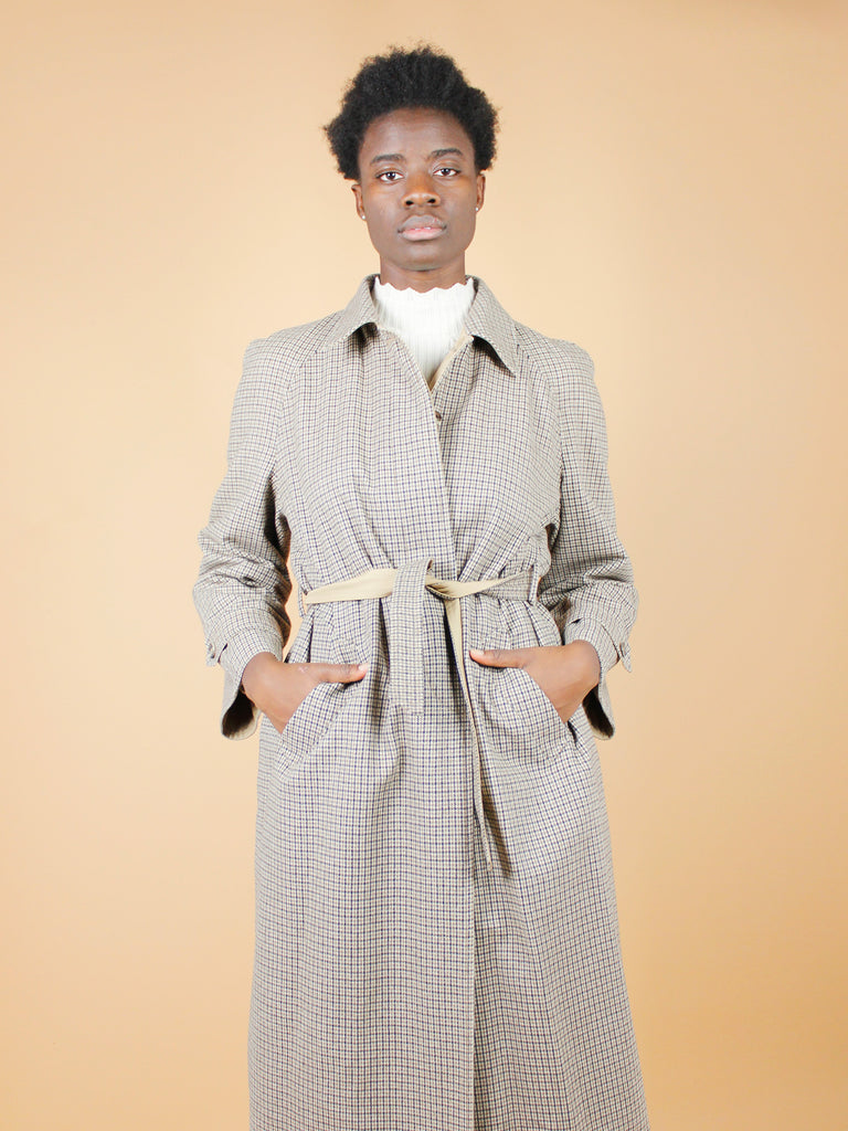80s DOUBLE FACE TRENCH COAT