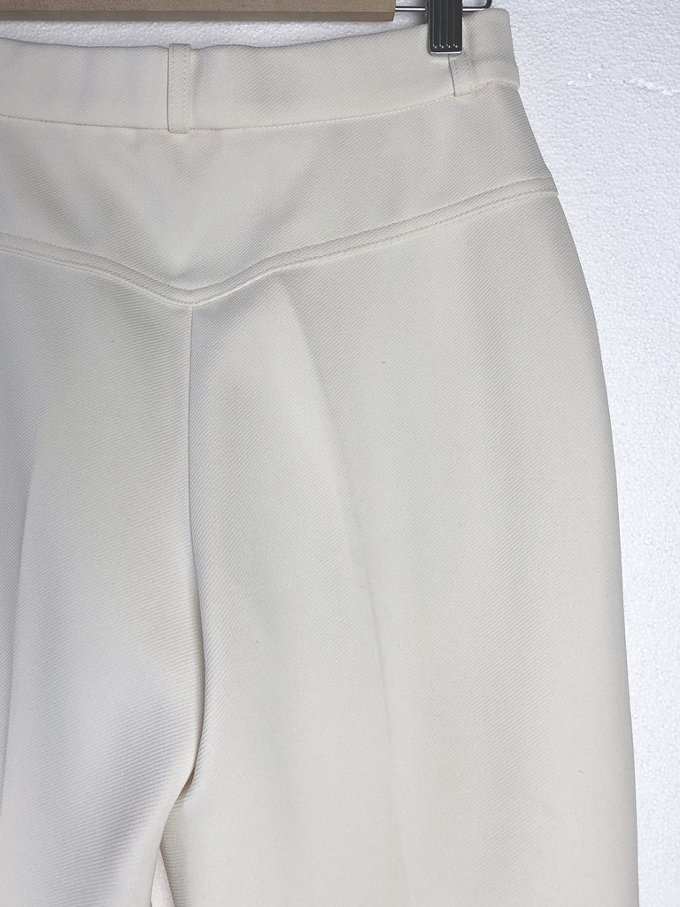 70s WHITE FLARED TROUSERS