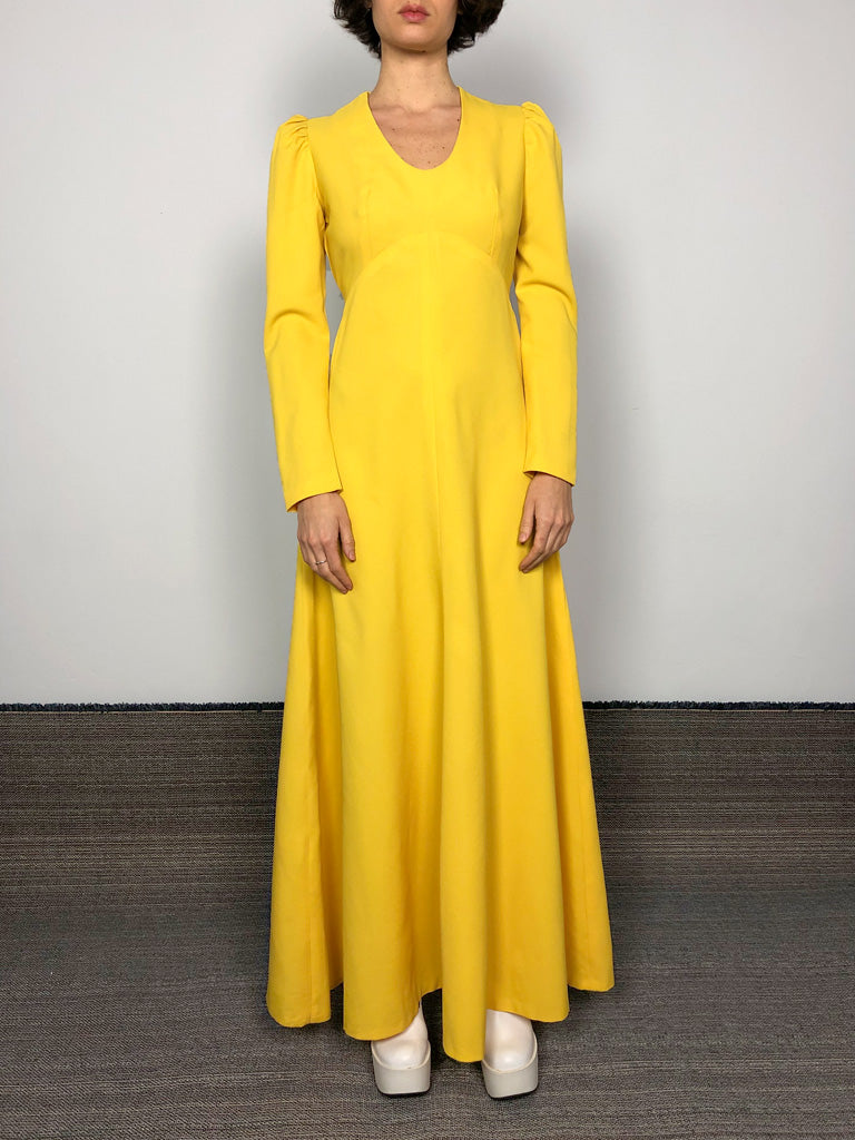 LEMON YELLOW LONG DRESS