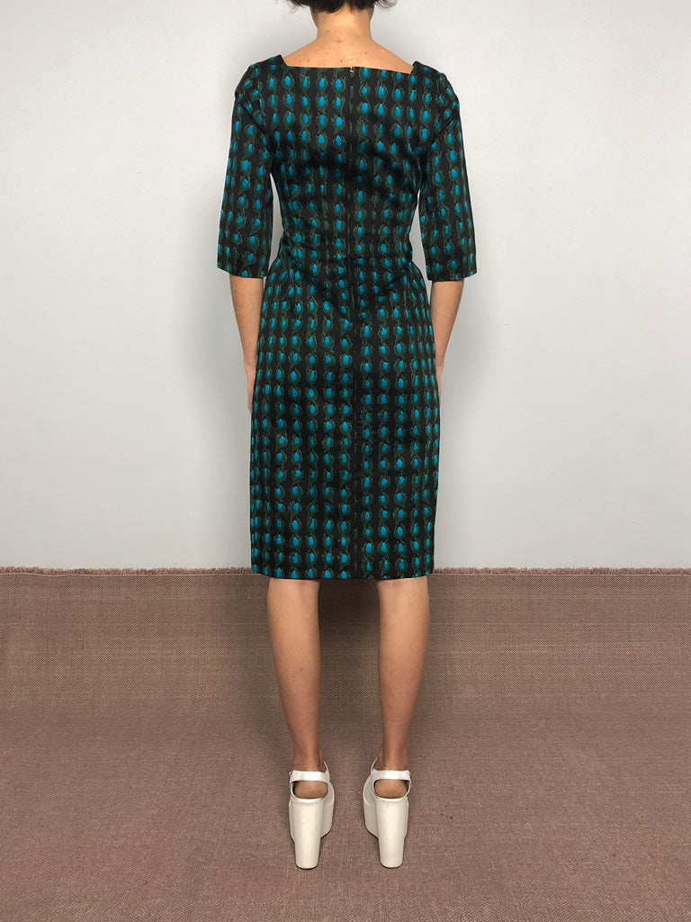 50s ARTICHOKE SHEATH DRESS