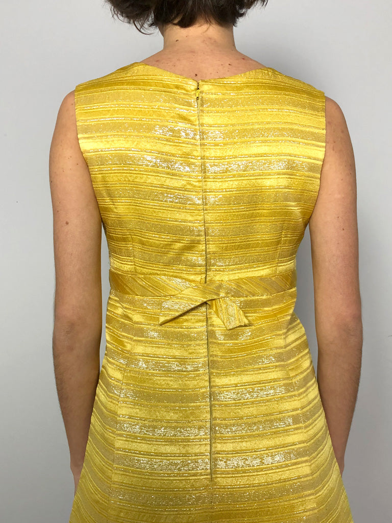 60s TAILOR MADE LUREX DRESS